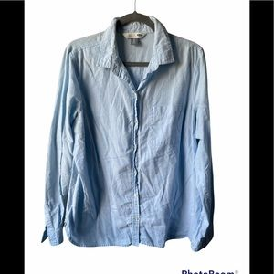 Old navy 100% cotton blue button up top